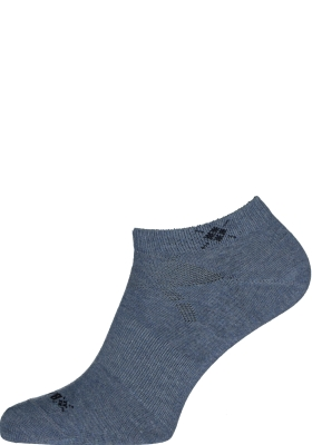 Burlington Everyday dames enkelsokken (2-pack), katoen, jeans blauw