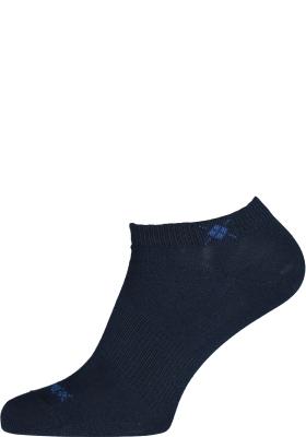 Burlington Everyday dames enkelsokken (2-pack), katoen, marine blauw