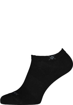 Burlington Everyday dames enkelsokken (2-pack), katoen, zwart