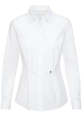Seidensticker dames blouse slim fit, stretch, wit