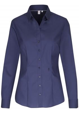 Seidensticker dames blouse slim fit, donkerblauw