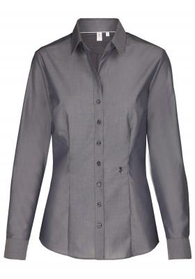 Seidensticker dames blouse slim fit, grijs
