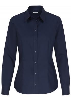 Seidensticker dames blouse regular fit, donkerblauw