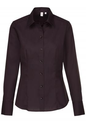 Seidensticker dames blouse regular fit, zwart