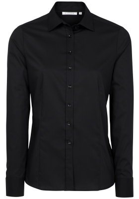 Eterna dames blouse Modern Classic stretch, zwart