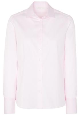 ETERNA dames blouse modern classic, stretch satijnbinding, roze