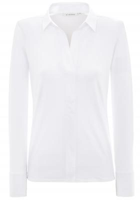 ETERNA dames blouse modern classic, jersey stretch, wit