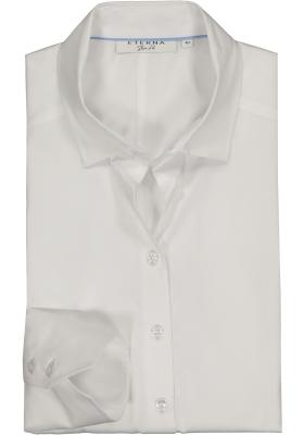 Eterna dames blouse Slim Fit stretch satijnbinding, wit