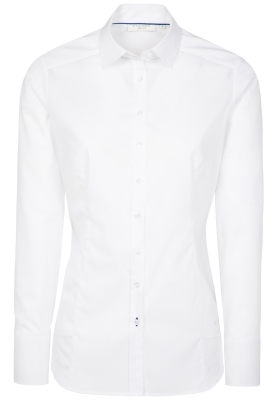 ETERNA dames blouse slim fit, stretch, wit
