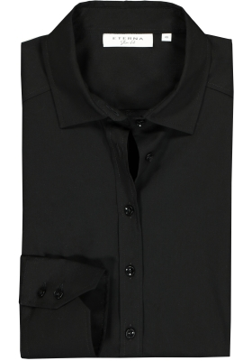 Eterna dames blouse Slim Fit stretch, zwart