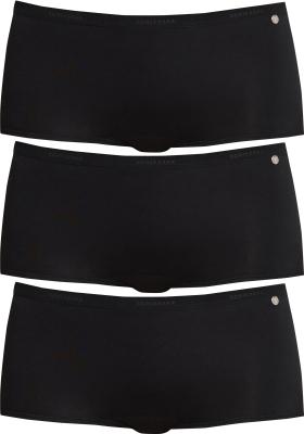 SCHIESSER 95/5 dames shorts (3-pack), zwart