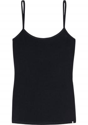 SCHIESSER 95/5 dames spaghetti top (1-pack), zwart