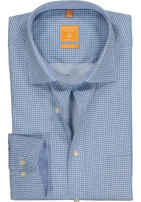 Redmond Modern Fit overhemd, blauw dessin (contrast)