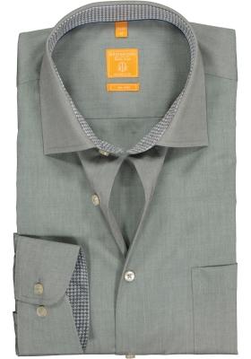 Redmond Modern Fit overhemd, grijs (contrast)