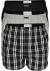 Calvin Klein Woven Boxers (3-pack), wijde heren boxershorts katoen, zwart, gestreept en geruit