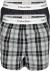 Calvin Klein Modern Cotton Slim Fit Boxer (2-pack), wijde boxers katoen, gestreept en geruit
