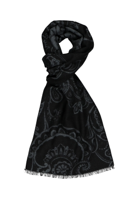 ETERNA herensjaal zijde, grijs - blauw dessin