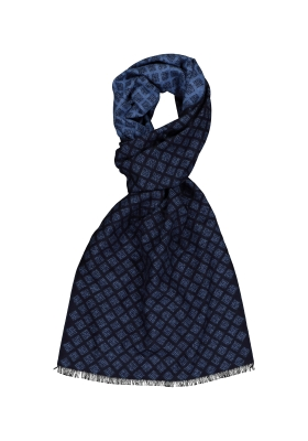 ETERNA herensjaal zijde, blauw dessin