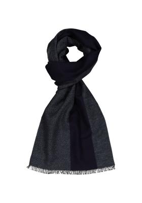 ETERNA herensjaal zijde, blauw - grijs gestreept