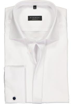 ETERNA comfort fit overhemd, dubbele manchet, niet doorschijnend twill heren overhemd, wit