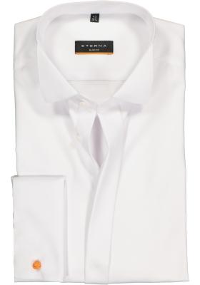 ETERNA slim fit overhemd, dubbele manchet, niet doorschijnend twill heren overhemd, wit