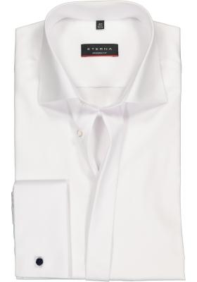 ETERNA Modern Fit overhemd mouwlengte 7 dubbele manchet, wit twill