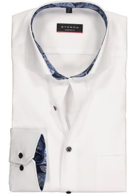 ETERNA Modern Fit overhemd mouwlengte 7, wit (contrast)