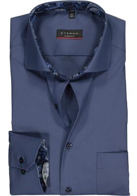 ETERNA Modern Fit overhemd mouwlengte 7, blauw (contrast)