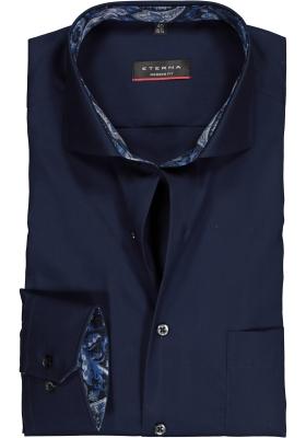 ETERNA Modern Fit overhemd mouwlengte 7, donkerblauw (contrast)