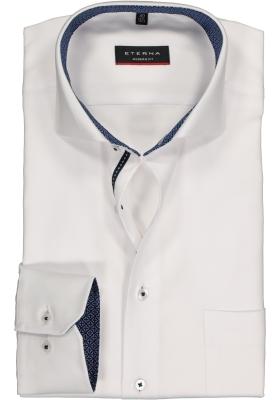 ETERNA Modern Fit overhemd, wit twill (contrast)