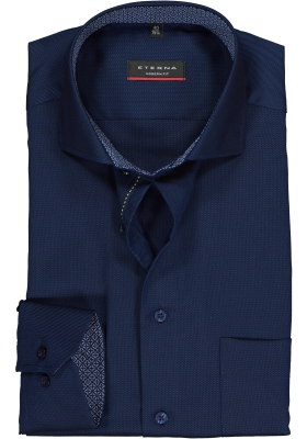 ETERNA Modern Fit overhemd, grijsblauw structuur (contrast)