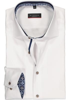 ETERNA Modern Fit overhemd, wit structuur (contrast)