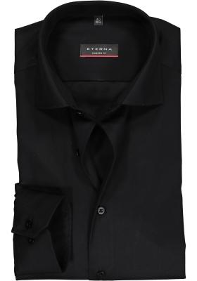 ETERNA modern fit overhemd, twill heren overhemd, zwart
