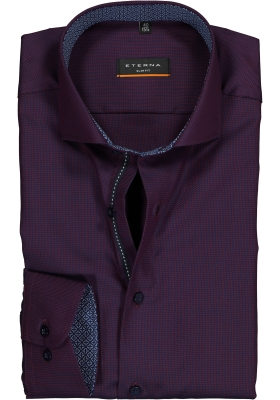 ETERNA Slim Fit overhemd, paars/blauw structuur (contrast)