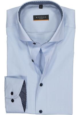ETERNA Slim Fit overhemd, lichtblauw superstretch (contrast)