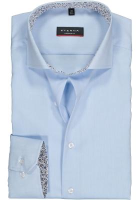ETERNA Modern Fit overhemd, lichtblauw Oxford (contrast)