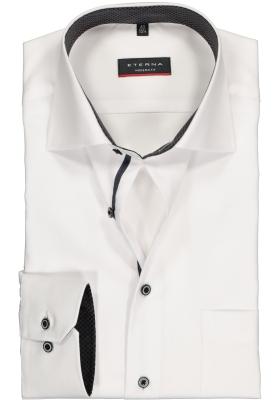 ETERNA Modern Fit overhemd, wit Oxford (contrast)