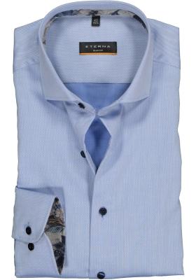 ETERNA Slim Fit overhemd, lichtblauw structuur (contrast)