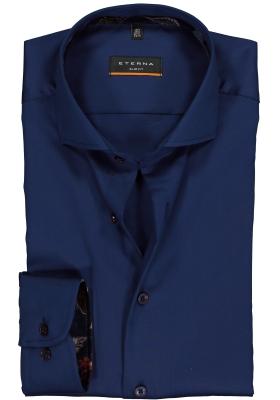 ETERNA Slim Fit overhemd, blauw (contrast)