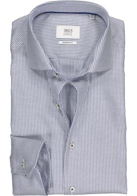 ETERNA Modern Fit overhemd, blauw pied de poule