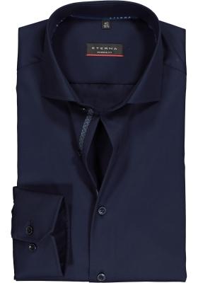 ETERNA Modern Fit overhemd, donkerblauw twill (contrast)