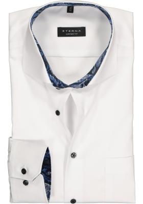 ETERNA Comfort Fit overhemd mouwlengte 7, wit (contrast)
