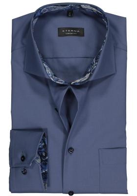 ETERNA Comfort Fit overhemd mouwlengte 7, blauw (contrast)