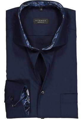 ETERNA Comfort Fit overhemd mouwlengte 7, donkerblauw (contrast)