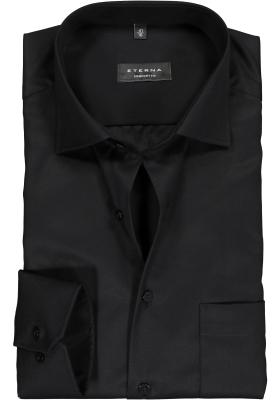 ETERNA Comfort Fit overhemd, zwart twill