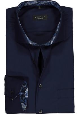 ETERNA Comfort Fit overhemd, donkerblauw (contrast)