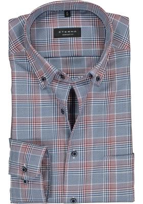 ETERNA Comfort Fit overhemd, rood - wit- blauw geruit