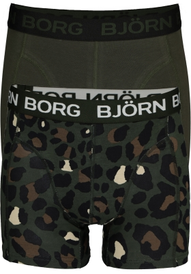 Bjorn Borg Cotton boxers, 2-pack green Leo