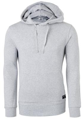 Bjorn Borg hoodie sweatshirt, heren trui met capuchon dik, lichtgrijs melange
