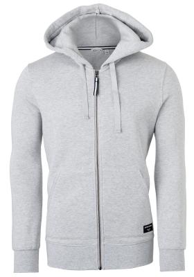 Bjorn Borg hoodie jacket, heren sweatvest dik, lichtgrijs melange